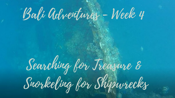 Bali Adventures Week 4 – Searching for Treasure and Snorkeling for Shipwrecks